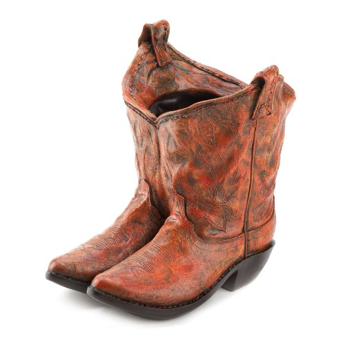 Old West Cowboy Boots Garden Planter