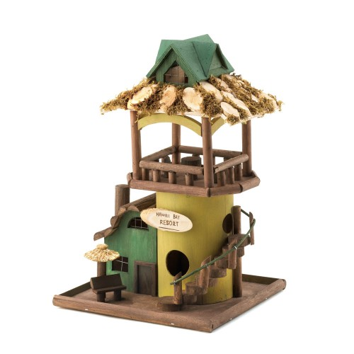 Hawaii Resort Hut Birdhouse