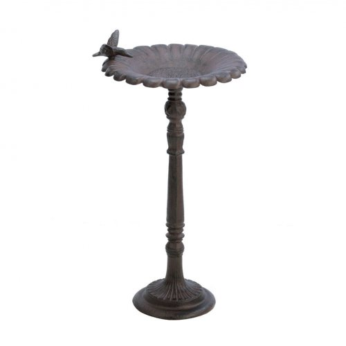 Cast Iron Hummingbird Birdbath