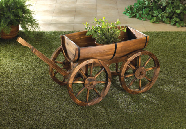 Whimsical Wagon Planter