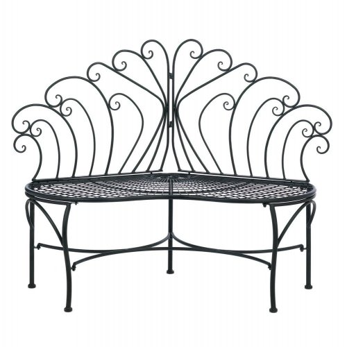 Peacock Inspired Patio Bench