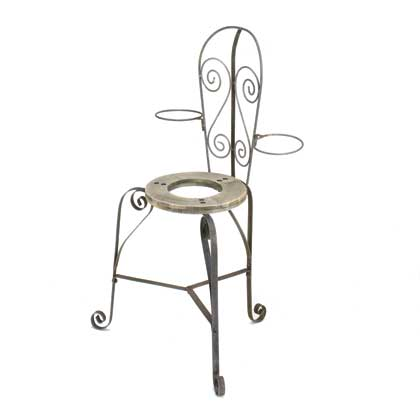 French Cafe Chair Planter